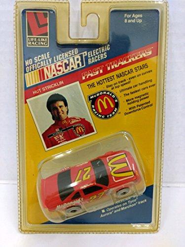 Racing Nascar Slot Car (Life Like 9731 NASCAR #27 McDonalds Racing Team Hut Stricklin HO Scale Electric Slot Car)