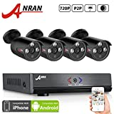 ANRAN 4 Channel 1080N HDMI AHD DVR Security Camera System with 4x 1800TVL 720P Waterproof 60ft Night Vision Outdoor Surveillance Camera No Hard Drive
