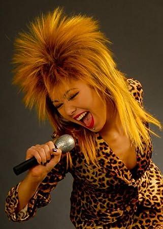 80s Tina Turner Style Perruque Diva Rock: