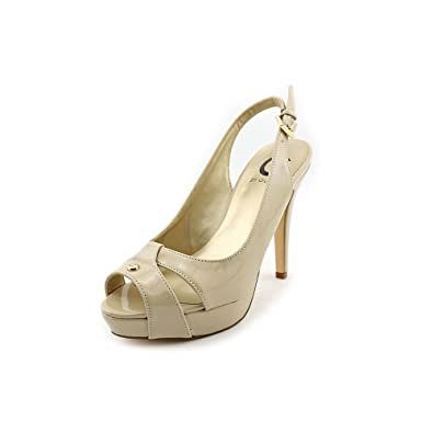 9f1668977c1 G by GUESS Cathy 3 Women US 6.5 Nude Platform Sandal  Amazon.co.uk  Shoes    Bags