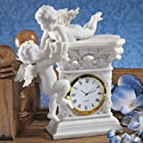 French Baroque Style Decorative Baby Cherubs Sculpture Table Clock