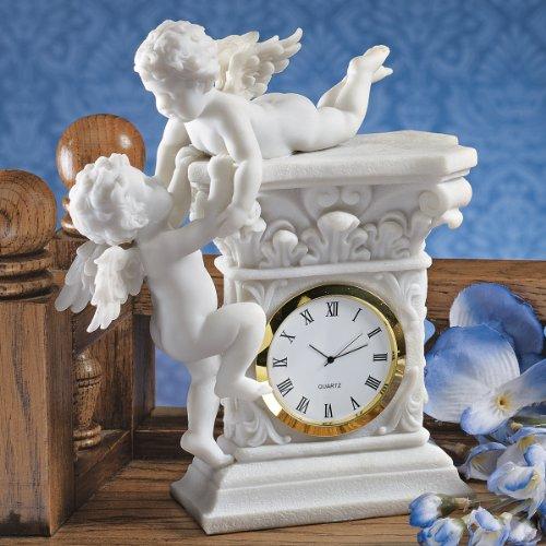 French Baroque Style Decorative Baby Cherubs Sculpture Table (Baroque Cherub Clock)