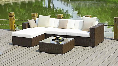 talfa polyrattan gartenm bel set mesa braun kaufen. Black Bedroom Furniture Sets. Home Design Ideas
