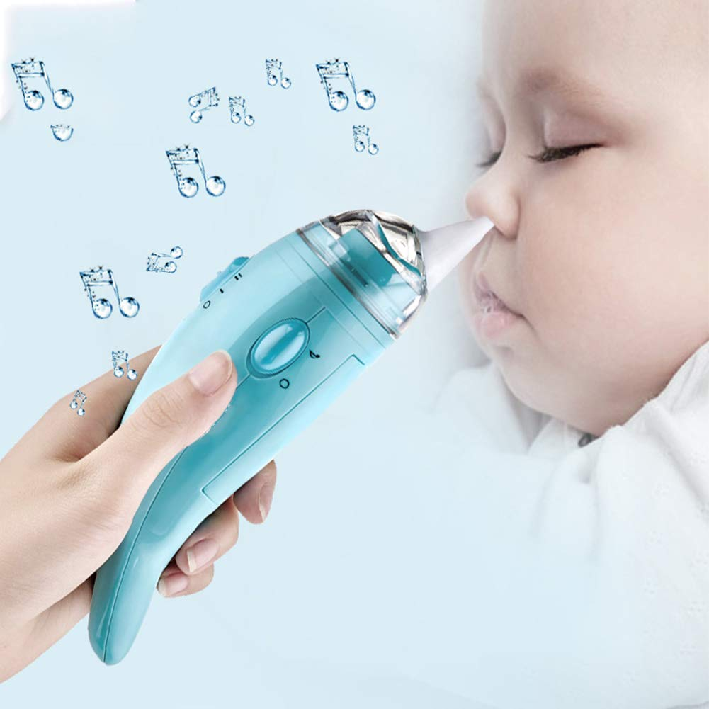 AIBAB Baby Nasal Aspirator Newborn Electric Cleaning Nasal Congestion Two-Speed Suction Match Music 0-12 Years Old by AIBAB