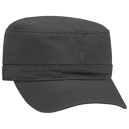 OTTO Superior Garment Washed Cotton Twill Military Cap - Black - Military Cap Collection