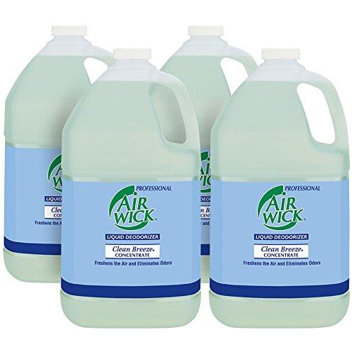 Professional Air Wick Liquid Deodorizer Concentrate, Clean Breeze, 4gal (4X1gal)