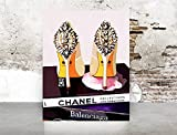 chanel classic bag - Wall Art Poster Print - COCO CHANEL, Shoes, Book, Handbag Vogue - Famous Fashion - Black WaterColor- 675
