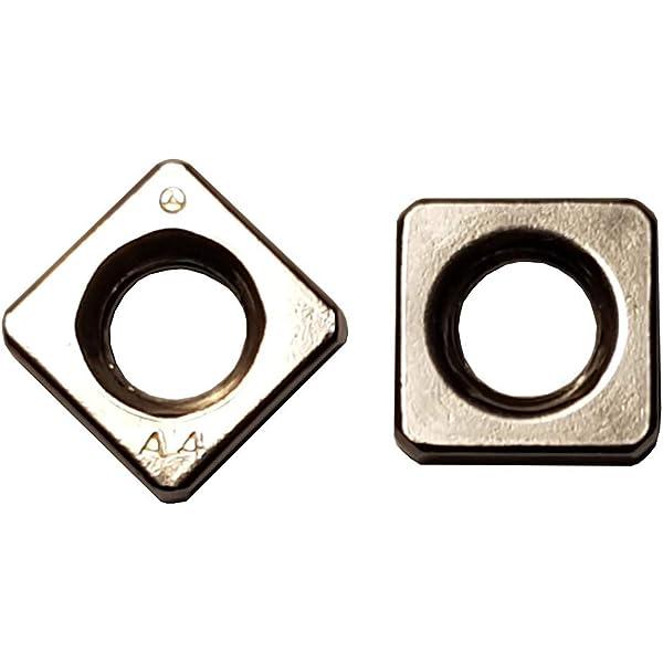 Quadratmutter 25 STK M5 Vierkantmutter DIN 557 Edelstahl A2 Einlegemutter