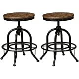Signature Design by Ashley Furniture-Pinnadel Counter Height Bar Stool-Set of 2-Casual Style-Grayish Brown