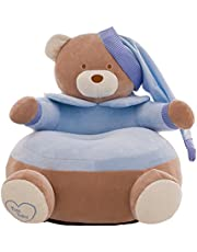 Blesiya Adorable Bear Children Seat Sofa Cover Kids Furniture Armchair Baby Chair Stuff Toy Bean Bag Home Playroom Decor