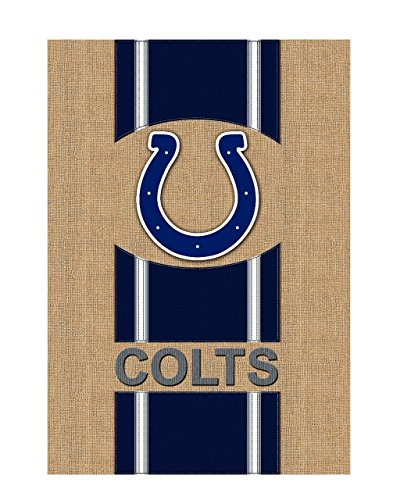 Evergreen NFL Burlap House Flag (Indianapolis Colts) ()