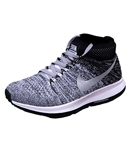 size 40 faf50 f3b55 Nike Men's Zoom Pegasus All Out Grey Black Running Shoes - 6 ...