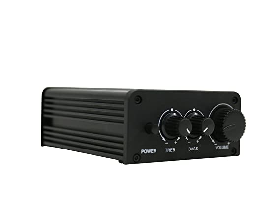 Amazon.com: Mini Stereo Amplifier with Bluetooth 4.0 and Bass Knob/Car Amplifier/Home Amplifier, 2 Channel: Home Audio & Theater