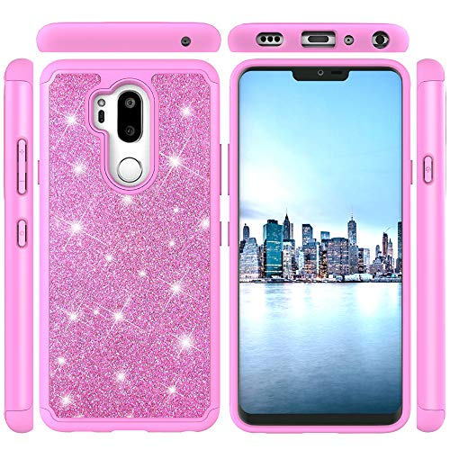 AICEDA Fashion Pink Phone Case Compatible with LG G7 LG G7 ThinQ, Drop Protection Anti-Scratch Durable Bumper Cover LG G7 LG G7 ThinQ