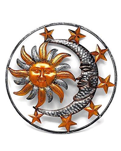 Large Metal Sun Moon Star Wall Art Sculpture Decor for Indoor Outdoor (17