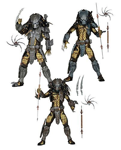 NECA Predators: Temple Guard, Ancient Worrier and Masked Scar Predator Series 15 Set of 3 Action Figures