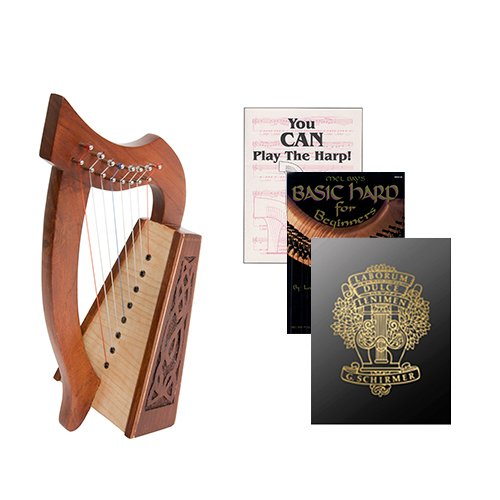 Homeschool Music Lily Harp w/Introduction to Harp Book Bundle + First Harp Book by Homeschooling Harps