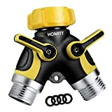 Homitt Hose Splitter,2 Way Y Hose Connector with Comfortable...