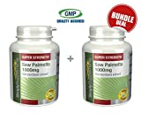Saw Palmetto 1000mg | Bundle Deal 120+120 Tablets (240 in total) | 100% money back guarantee | Manufactured in the UK