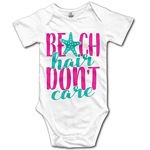 Price comparison product image MUtang SHU Beachhair Don't Care Baby Romper Bodysuit Jumpsuit 24 Months White