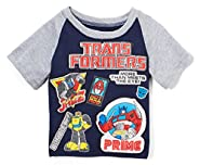 Transformers Little Boys' Toddler Patches Raglan Tee