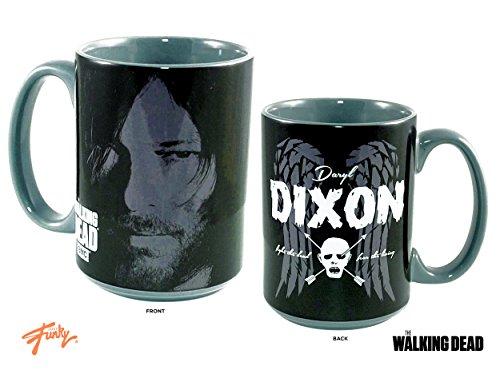 JUST FUNKY 16oz AMC's OFFICIAL The Walking Dead Daryl Dixon Black Ceramic Coffee Mug PREMIUM Ceramic Coffee Mug GIFT