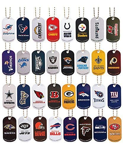 Myhoovesandpaws NFL Licensed Team Necklace Dog TAG 3 Pack Choose Your Team (Pittsburgh Steelers)