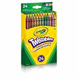 Crayola 24 Twistables Coloured Pencils, Adult Colouring, Bullet Journaling, School and Craft Supplies, Drawing Gift for Boys and Girls, Kids, Teens Ages  5, 6,7, 8 and Up, Holiday Gifting, Stocking Stuffers, Arts and Crafts