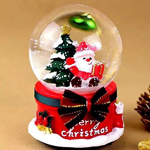 - Gwill Christmas Snow Crystal Globe Ball Music Luminous Box Musical Snowflakes Jingle Bells Santa and Snowman Decoration and Gift