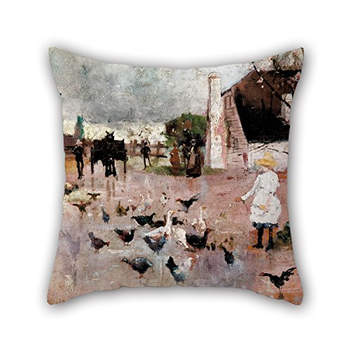 The Oil Painting Charles Conder - Tea-time Pillow Cases Of 20 X 20 Inches / 50 By 50 Cm Decoration Gift For Dinning Room Bedding Wedding Him Office Couch (two Sides)
