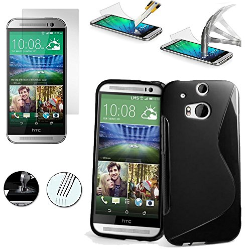 TPU Silicone Back Case for HTC ONE M8 (Black) - 4