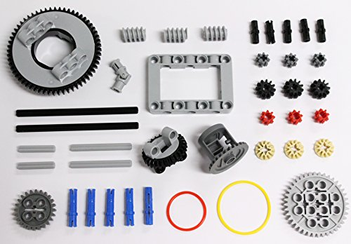 LEGO 40 pcs NEW Technic GEAR Pack Turntable Differential transmission kit set lot Axle Pin connector rubber band chassis mindstorms NXT ev3 robot robotics part piece -