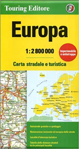 Cartina Stradale D Europa.Amazon It Europa 1 2 800 000 Carta Stradale E Turistica