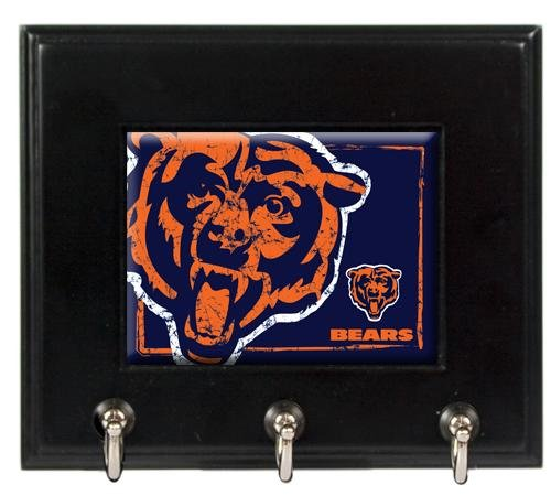 NFL Chicago Bears Wood Keyhook Rack