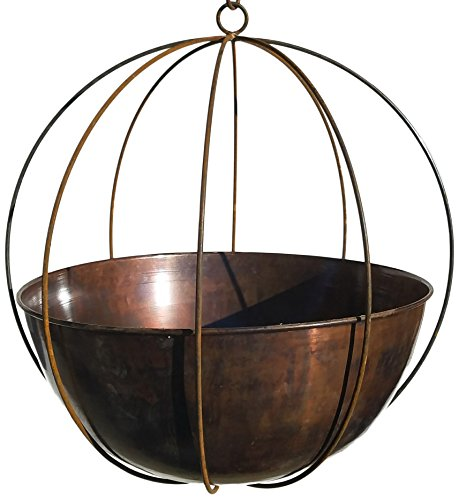 Passage XLG-WOK-23-CB Hanging Planter, Burnt Copper
