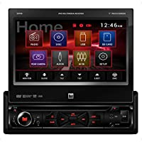 DUAL DV705 7 Single-DIN In-Dash DVD Receiver with Motorized Touchscreen Display Car Accessories