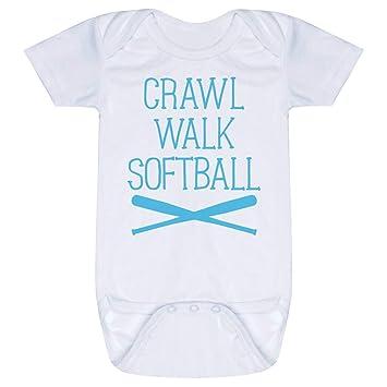 992cfb8b4 Amazon.com: Softball Baby & Infant Onesie | Crawl Walk Softball ...