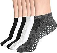 Womens & Mens Low Cut Socks,DIBAOLONG 6-Pair Ankle No Show Athletic Short Cotton S