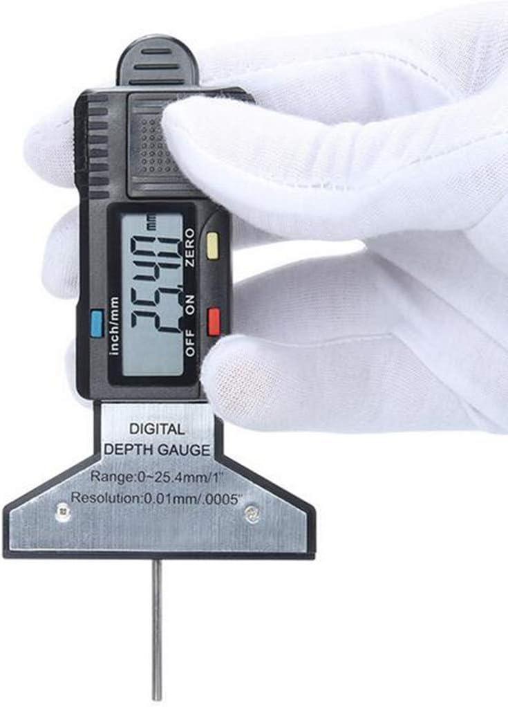 H HILABEE Digitaler Reifenprofilpr/üfer Mit Gro/ßem LCD Display Und Gro/ßem Messbereich