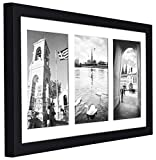 Golden State Art, 8.5x16.3 Black Photo Wood Collage