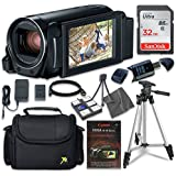Canon VIXIA HF R800 Camcorder with Sandisk 32 GB SD Memory Card + Extra Accessory Bundle