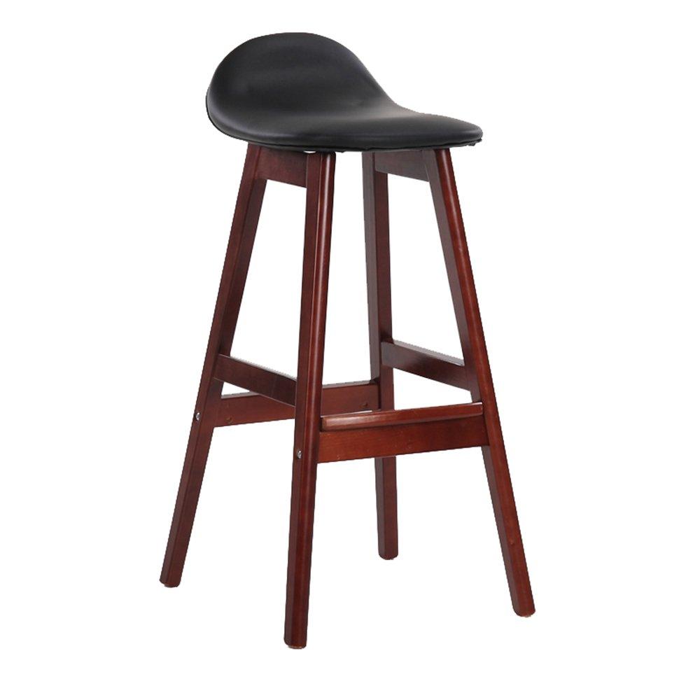 バースツールノルディックソリッドウッドハイスツールシンプルな革のアートバーのスツールホームバーの椅子41 * 40 * 83cm(多色オプション) (色 : J j) B07D6Y37H7 J j J j