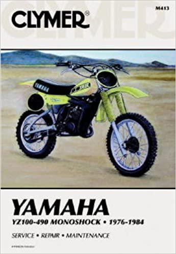 1984 yamaha yz100 yz125 yz175 yz250 yz400 yz465 yz490 motorcycle repair  manual: manufacturer: amazon com: books