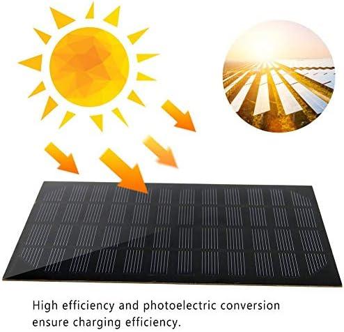DEWIN Solar Phone Ladegerät - Mini Solarpanel Mini 2,5 W 12 V 0,208 A Monokristallines Silizium Solarpanel DIY Ladegerät