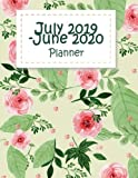 """July 2019-June 2020 Planner: July 2019-June 2020 Monthly, Yearly Calendar Planner, Daily Weekly Monthly Planner, Organizer,Agenda,12 Months July-June Calendar 246 pages Large 8.5"""" x 11"""""""