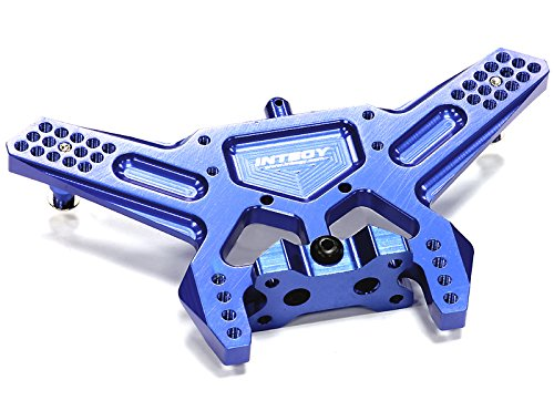Carbon Rustler Fiber (Integy RC Model Hop-ups T8672BLUE Billet Machined Rear Shock Tower for 1/10 Traxxas Slash 2WD)