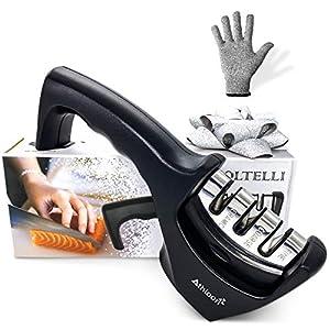 Athloon Affilacoltelli Professionale - Affila Coltelli da Cucina - Incluso Guanto Antitaglio 4