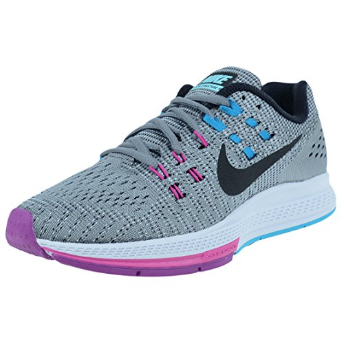 Nike WoMen WMNS Air Zoom Structure 19 (W) Running Shoes Gris (Cool Grey / Black-fuchsia Flash)