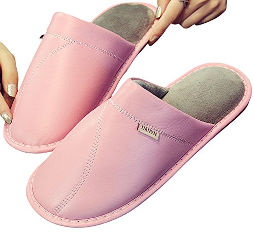 Pantofole Di Puff Antiscivolo Invernali In Coco Urbano Foderate In Pile Con Fodera Interna Rosa
