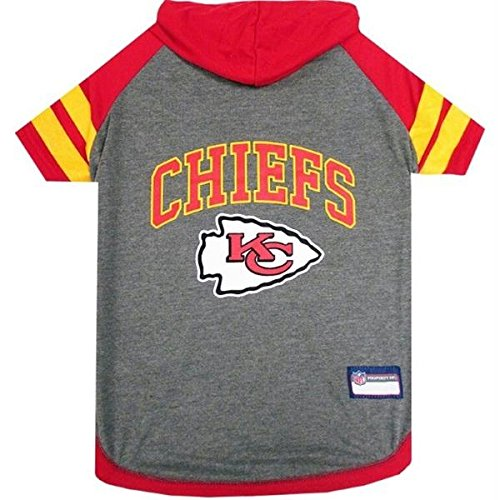 Kansas City Chiefs Pet Hoodie T-Shirt - Large by Pet Care Preferred